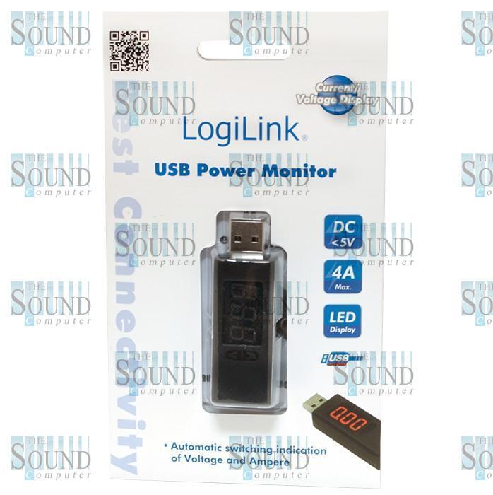 RILEVATORE DI TENSIONE PER PERIFERICHE DISPOSITIVI USB CON SCHERMO LED LUMINOSO